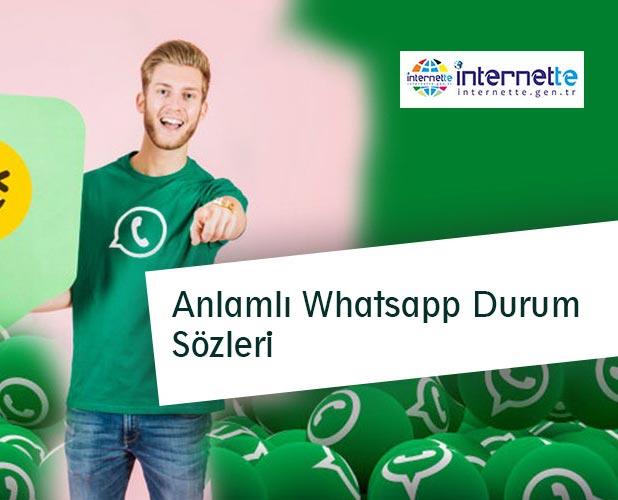 Anlamlı Whatsapp Durum Sözleri