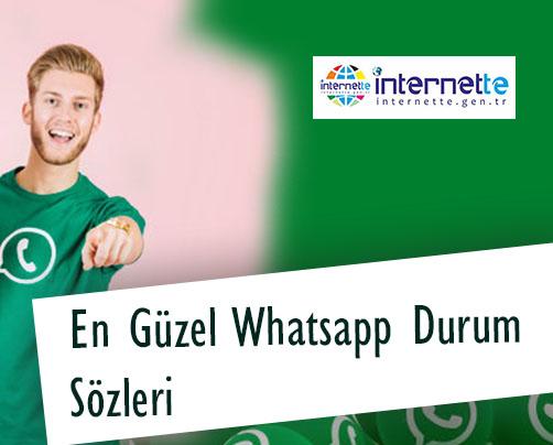 En güzel Whatsapp Durum Sözleri
